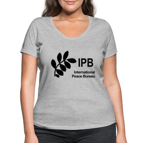International Peace Bureau IPB Logo black - Women's Organic V-Neck T-Shirt by Stanley & Stella