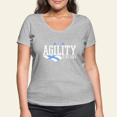 Agility Finland - Stanley & Stellan naisten v-aukkoinen luomu-T-paita