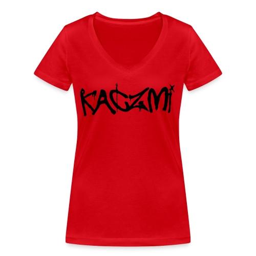 kaczmi - Ekologiczna koszulka damska z dekoltem w serek Stanley & Stella