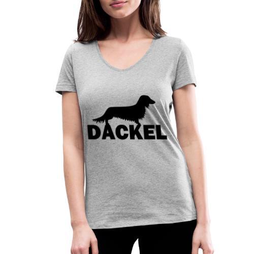 Dackel - Frauen Bio-T-Shirt mit V-Ausschnitt von Stanley & Stella