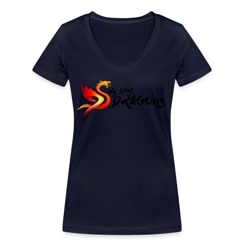 Slay Dragons - vankityrmät Dragons - Stanley & Stellan naisten v-aukkoinen luomu-T-paita