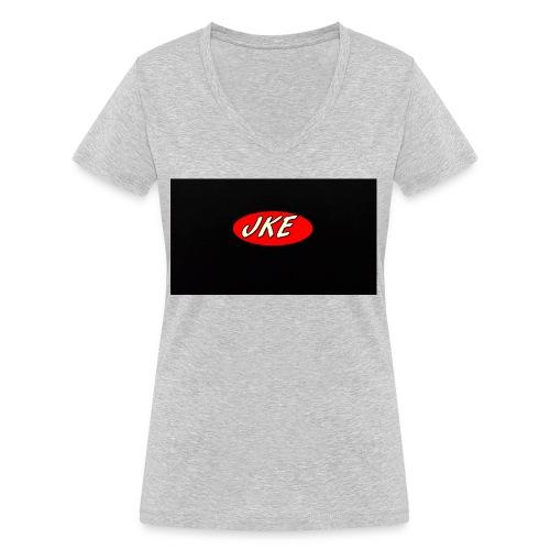 JKE Basic - Frauen Bio-T-Shirt mit V-Ausschnitt von Stanley & Stella