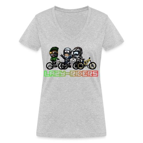 LAZY-RIDERS - Frauen Bio-T-Shirt mit V-Ausschnitt von Stanley & Stella