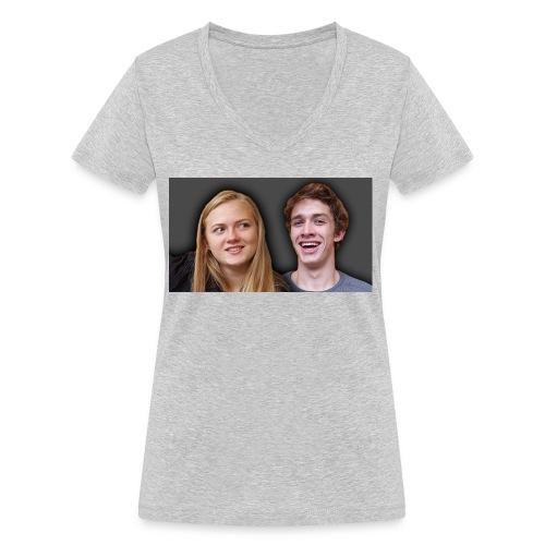 Profil billede beska ret - Økologisk Stanley & Stella T-shirt med V-udskæring til damer