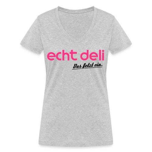 echtdelikat - Frauen Bio-T-Shirt mit V-Ausschnitt von Stanley & Stella