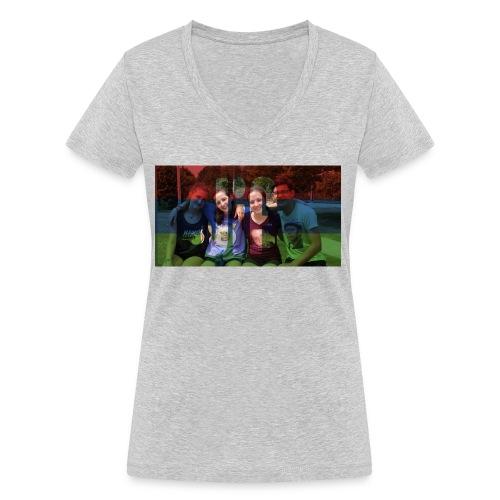 PV-Bike Trip Propaganda - Frauen Bio-T-Shirt mit V-Ausschnitt von Stanley & Stella