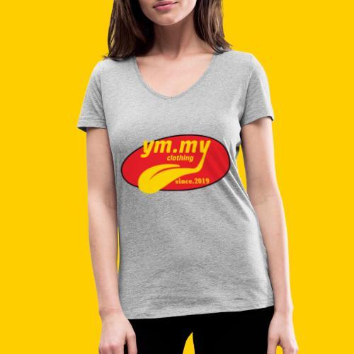 YM.MY clothing LOGO - Women's Organic V-Neck T-Shirt by Stanley & Stella