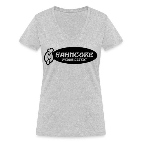 hahncore_sw_nur - Frauen Bio-T-Shirt mit V-Ausschnitt von Stanley & Stella