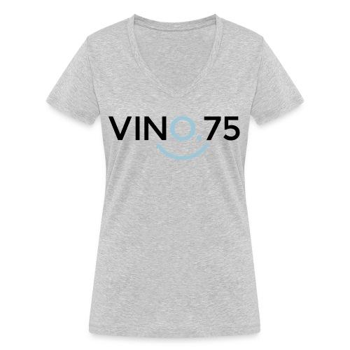 VINO75 - T-shirt ecologica da donna con scollo a V di Stanley & Stella