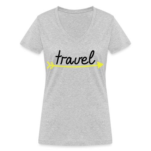 Travel - Frauen Bio-T-Shirt mit V-Ausschnitt von Stanley & Stella