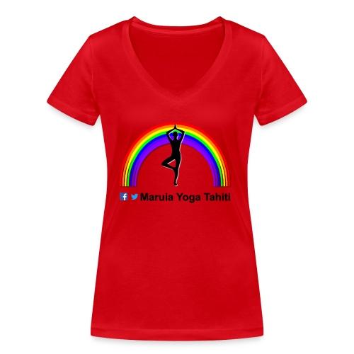 Logo de Maruia Yoga Tahiti - T-shirt bio col V Stanley & Stella Femme