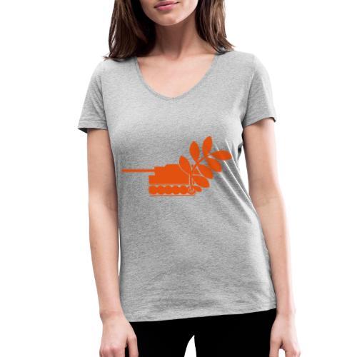Global Campaign on Military Spending Logo v2 - Women's Organic V-Neck T-Shirt by Stanley & Stella