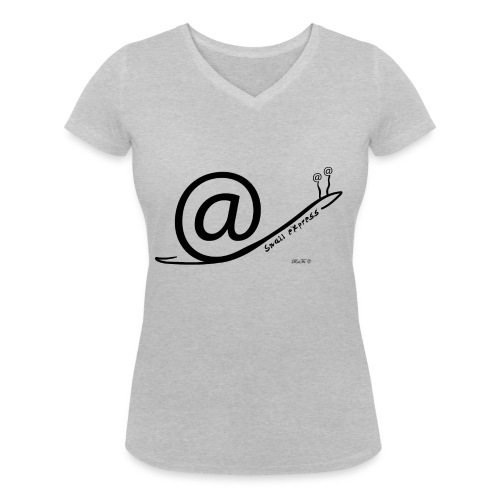 Snail Express - T-shirt ecologica da donna con scollo a V di Stanley & Stella