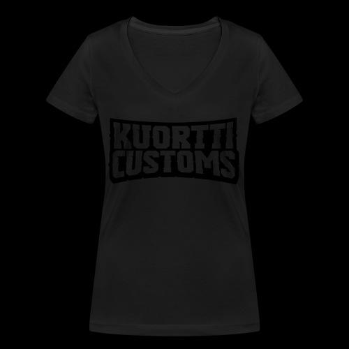 kuortti_customs_logo_main - Stanley & Stellan naisten v-aukkoinen luomu-T-paita