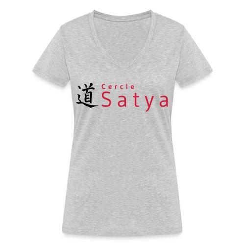logo inline - T-shirt bio col V Stanley & Stella Femme