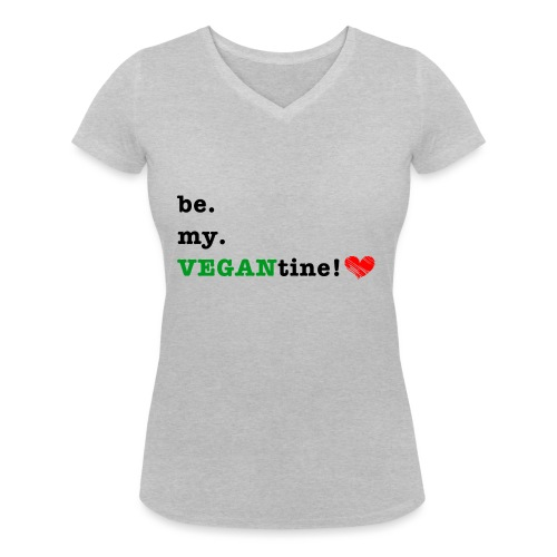 VEGANtine Green - Women's Organic V-Neck T-Shirt by Stanley & Stella