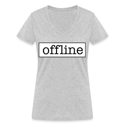 Officially offline - Vrouwen bio T-shirt met V-hals van Stanley & Stella
