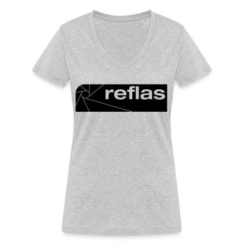 Reflas Clothing Black/Gray - T-shirt ecologica da donna con scollo a V di Stanley & Stella