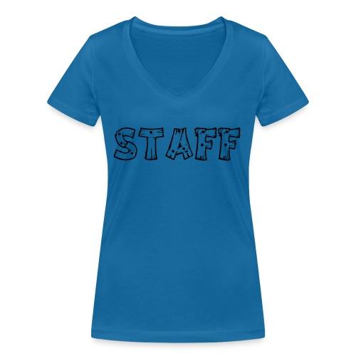STAFF - T-shirt ecologica da donna con scollo a V di Stanley & Stella