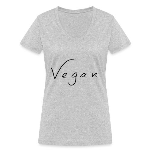 Vegan - Vrouwen bio T-shirt met V-hals van Stanley & Stella