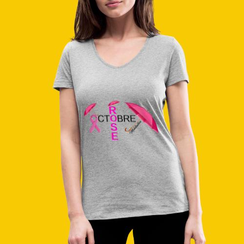 OCTOBRE ROSE 2018 - T-shirt bio col V Stanley & Stella Femme