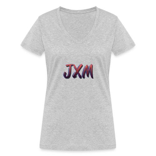 JXM Logo - Women's Organic V-Neck T-Shirt by Stanley & Stella
