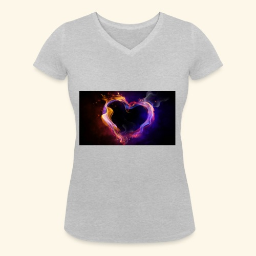 love at first site - Women's Organic V-Neck T-Shirt by Stanley & Stella