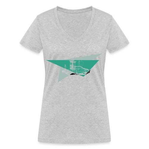 Schneeberg Fichtelshirt im Fichtelgebirge - Frauen Bio-T-Shirt mit V-Ausschnitt von Stanley & Stella