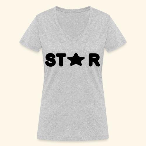 Star of Stars - Women's Organic V-Neck T-Shirt by Stanley & Stella