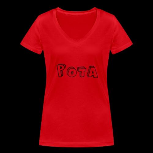pota1 - T-shirt ecologica da donna con scollo a V di Stanley & Stella