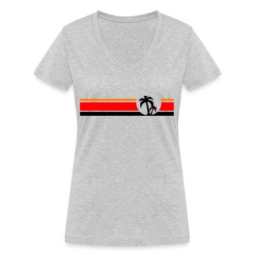 Palme II - Frauen Bio-T-Shirt mit V-Ausschnitt von Stanley & Stella