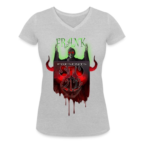 STU-Shirt-frank_4_cropped - Women's Organic V-Neck T-Shirt by Stanley & Stella