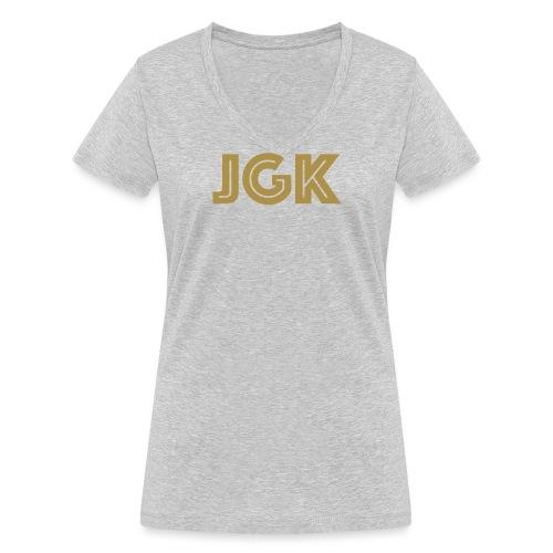 JGK - Økologisk T-skjorte med V-hals for kvinner fra Stanley & Stella