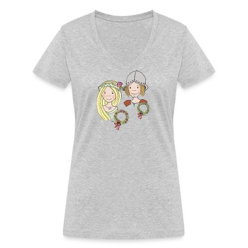 Mittelalter Reisiger - Frauen Bio-T-Shirt mit V-Ausschnitt von Stanley & Stella