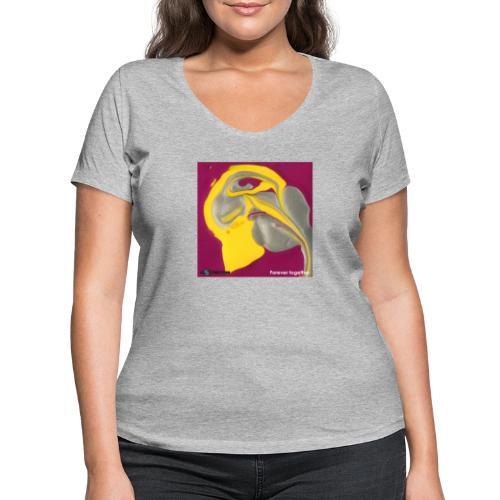 TIAN GREEN Welt Mosaik - CH071 Forever together - Frauen Bio-T-Shirt mit V-Ausschnitt von Stanley & Stella