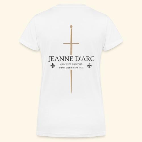 Jeanne d arc dark - Frauen Bio-T-Shirt mit V-Ausschnitt von Stanley & Stella