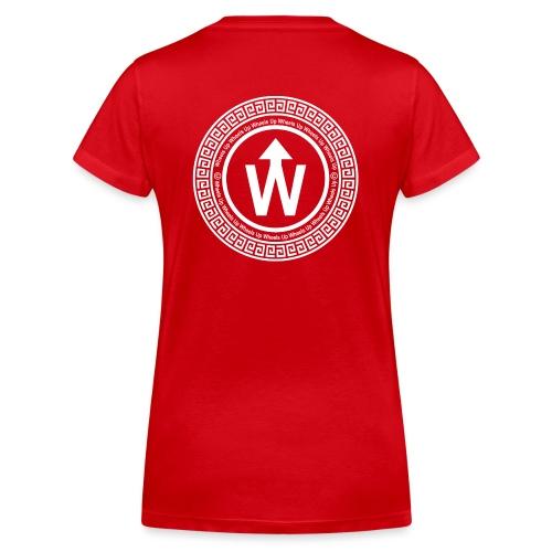 wit logo transparante achtergrond - Vrouwen bio T-shirt met V-hals van Stanley & Stella