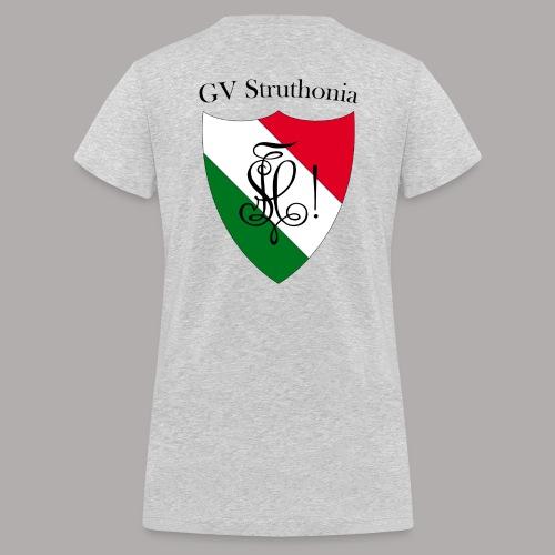 Wappen Struthonia beschriftet - Frauen Bio-T-Shirt mit V-Ausschnitt von Stanley & Stella