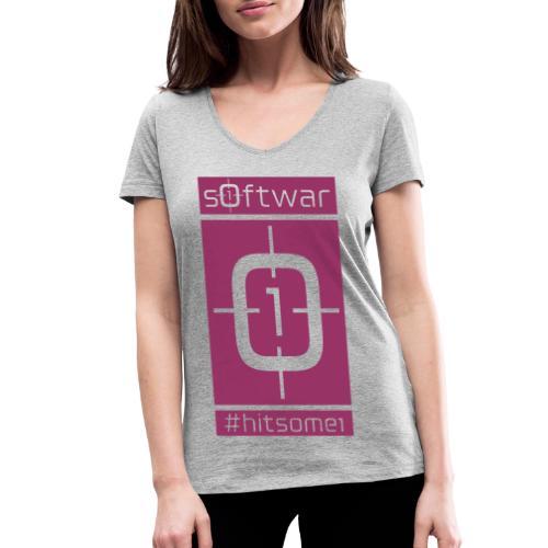 airman - softwar - #hitsome1 - negativ - Frauen Bio-T-Shirt mit V-Ausschnitt von Stanley & Stella