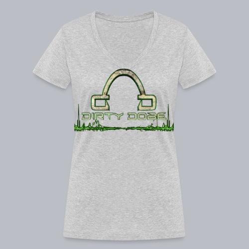 tshirt transparent vorn 1 png - Frauen Bio-T-Shirt mit V-Ausschnitt von Stanley & Stella