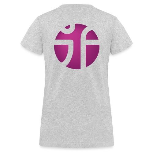 JF Logo Violet 3 png - Frauen Bio-T-Shirt mit V-Ausschnitt von Stanley & Stella
