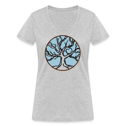 celtic love tree - Frauen Bio-T-Shirt mit V-Ausschnitt von Stanley & Stella