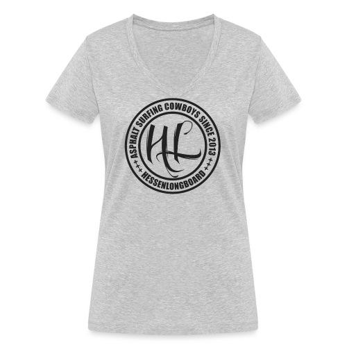 Hessenlongboard® Asphalt Cowboy 2016 - Frauen Bio-T-Shirt mit V-Ausschnitt von Stanley & Stella