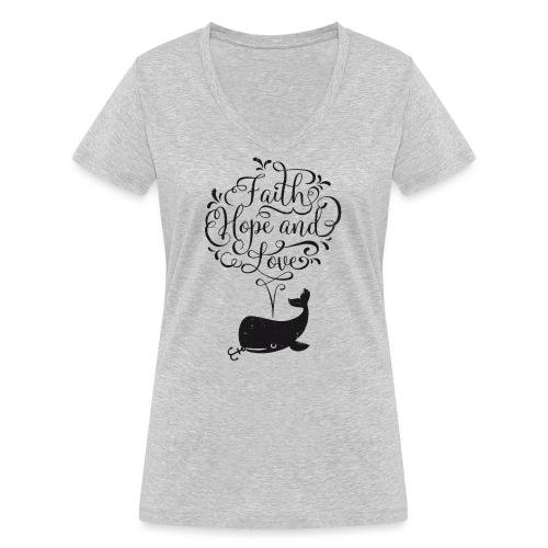 design wal copy - Frauen Bio-T-Shirt mit V-Ausschnitt von Stanley & Stella
