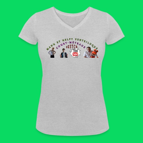 baniére tea shirt png - T-shirt bio col V Stanley & Stella Femme