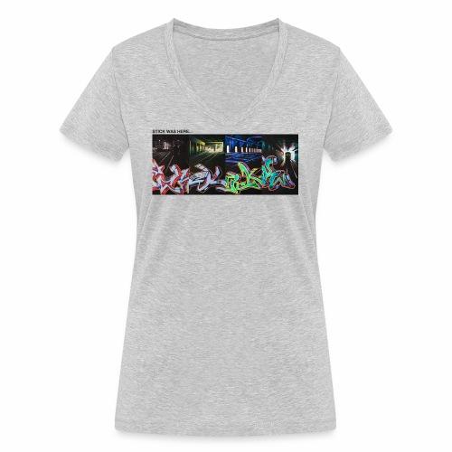 stick x 4 part 1 ver01 - Økologisk Stanley & Stella T-shirt med V-udskæring til damer