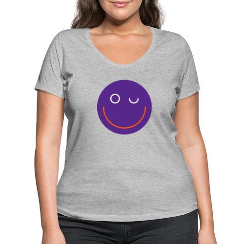 SMILE - Frauen Bio-T-Shirt mit V-Ausschnitt von Stanley & Stella