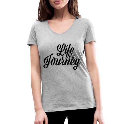 Life is a journey - Ekologiczna koszulka damska z dekoltem w serek Stanley & Stella