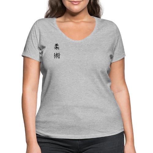 jiu-jitsu på japansk og logo - Økologisk Stanley & Stella T-shirt med V-udskæring til damer