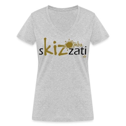 T-Shirt attillata sKizzati Kizomba Uomo verde fluo - T-shirt ecologica da donna con scollo a V di Stanley & Stella